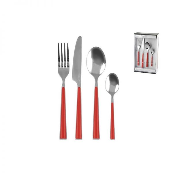 HOME CUTLERY-SET ROSSO 24 KOM 5281 - Sweet Home Port