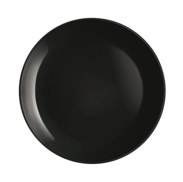 LUMINARC Diwali noir crni plitki tanjir